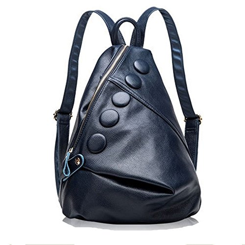 Eysee - Bolso mochila  de Piel para mujer azul zafiro