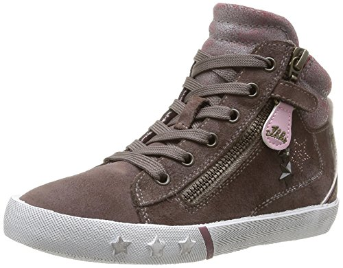 IKKS Kesiah - Zapatillas de Deporte de cuero niña marrón - Marron (15 Vte Taupe/Vx Rose)