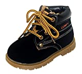 Happy Cherry Infant Retro Winter Lace Up Boots Ladies Martin Ankle Boot Work Hiking Trail Biker Shoes Size 21 Black