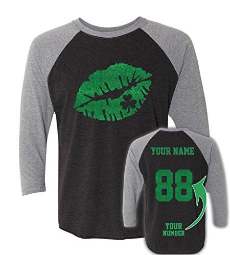 Glitter Custom Jerseys St Patrick's Day T Shirts