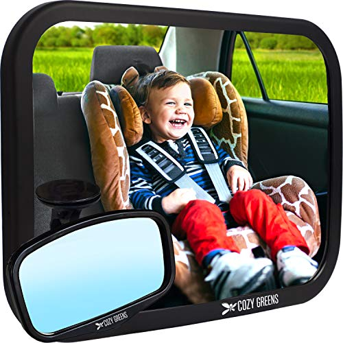 COZY GREENS Baby Car Mirror | Crash Tested, Stable, Shatterproof | Wide Crystal...