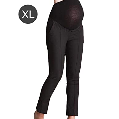 c99680a4f8171 iShine Womens Maternity Pants, Solid Color Over-Bump Trousers Elastic Adjustable  Trousers for Maternity Work Office Pants: Amazon.co.uk: Clothing