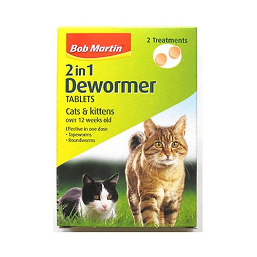 Bob Martin 2 In 1 Dewormer for Cats & Kittens 20g - Bulk Deal of 6x BOB20975