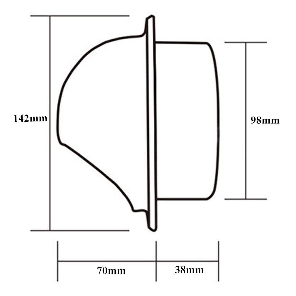 L/üftungsgitter Rund f/ür Ablufthaube Bel/üftungen Hon/&Guan /Ø100mm Edelstahl Zuluft und Abluft Gitter