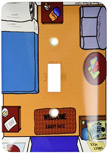 ¡3dRose lsp_5297_1 almohadilla de Mouse o ratón Diseño alfombrilla de casa! Interruptor de palanca única
