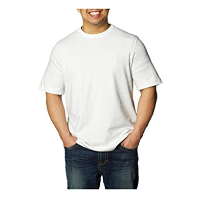 Amazon.com: Kirkland Signature Men's Crew Neck T-shirt, White ...