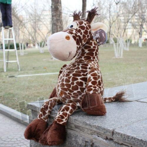 Cute new coffee deer giraffe Stuffed Animals soft toys plush doll 25 CM new by Unbranded