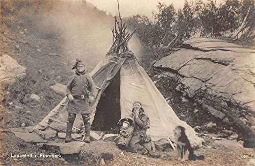 Teepee Postcard (Finnmark Norway Lappetelt Camping Teepee Real Photo Antique Postcard J72257)