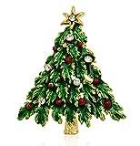 Akianna Swarovski Element Crystals Christmas Tree Pin Brooch