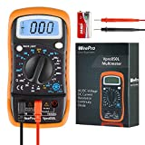 WeePro Vpro850L Digital Multimeter Digital Voltmeter AC/DC Portable Handheld Ammeter Ohmmeter Resistance Tester with Diode HFE and Continuity Amp/Ohm/Volt with Backlight and Rubber Protection Case