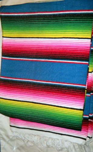4X6 Ft. Multi-Colored Zarape Mexican Yoga Blanket Decor Thows From Mexico New by Handmade