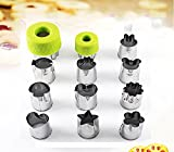vegetable cutter kids - Vegetable Cutter Shapes Fruit Cookie Bento Press Mold 12 Pieces