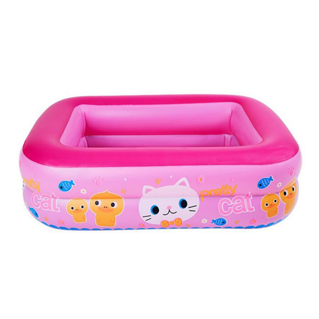 Rose grand YZ Piscine gonflable de bébé d'enfants de piscine de bébé surdiPour des hommesionnés Piscine gonflable de bébé d'isolation d'adultes de piscine de bébé (Couleur   Bleu, taille   S)
