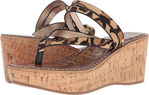 Sam Edelman Women's Rasha Wedge Sandal, New Nude Leopard, 10.5 M US