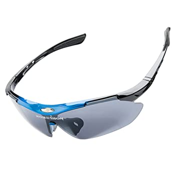 e622512e2e ROBESBON Protection 100% UV400 Lunettes de Soleil Sport Cyclisme Ski  Conduite Moto Mod Pêche Incassables