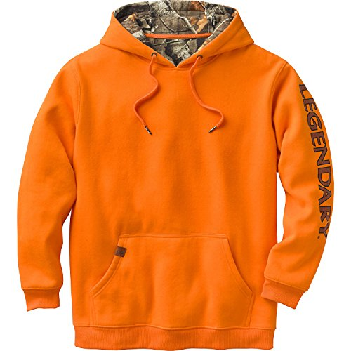 Legendary Whitetails Mens Buckshot Workwear Hoodie Inferno (Legendary Sport Prints Iron)