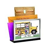 School Bus Driver - FemalePersonalized Friendly Folks Mail - File Sorter