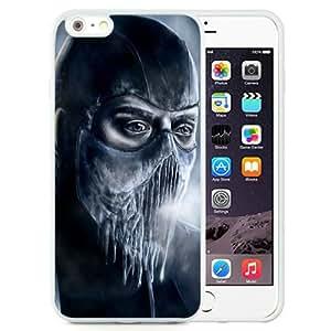 Mortal Kombat Sub Zero Ice Cold Blue White Abstract Design Custom iPhone 6plus 5.5 Inch TPU Case