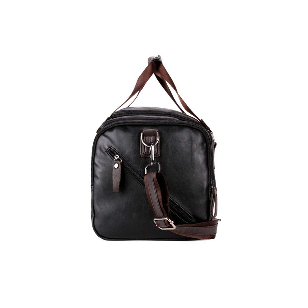 Ybriefbag Unisex Short and Long Distance Business Casual Bag Portable Fitness Bag Large Travel Bag Vacation Color : Brown
