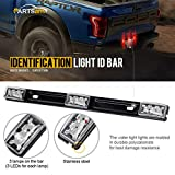 "Partsam (1) 14"" Clear/Red 3Lamp ID LED Light Bar Tailgate Mount For Dodge RAM 1500 2500 3500 Sealed ID Light Bar Clearance"