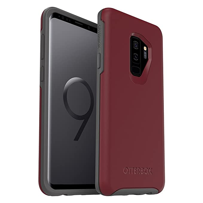 6044a987079 Amazon.com: OtterBox Symmetry Series Case for Samsung Galaxy S9+ -  Frustration Free Packaging - FINE Port (Cordovan/Slate Grey): Cell Phones &  Accessories