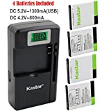 Kastar Galaxy S2 Battery (4-Pack) and intelligent
