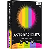 Astrobrights Inkjet, Laser Print Colored Paper, Cosmic Orange, Solar Yellow, Terra Green, Venus Violet, Fireball Fuschia, 500/Ream (Quantity)