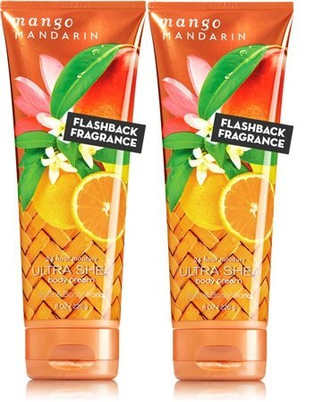 (Bath and Body Works MANGO MANDARIN Ultra Shea Body Cream 2 Pack 8 once each)