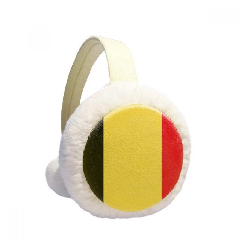 Belgium National Flag Europe Country Winter Earmuffs Ear Warmers Faux Fur Foldable Plush Outdoor Gift