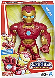 "Playskool Heroes Marvel Super Hero Adventures Mega Mighties Iron Man Collectible 10"" Action Figure, Toys"