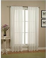 Elegant Comfort - Juego de 2 cortinas para ventanas con barra de 5 cm