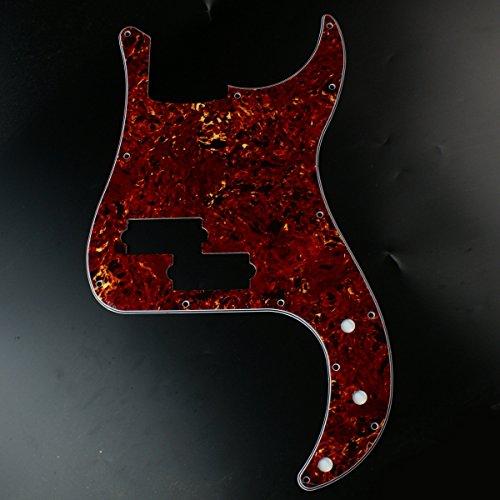 (Custom Guitar Pickguard fits Precision Bass PB 13 Hole ,4Ply Red Tortoise)