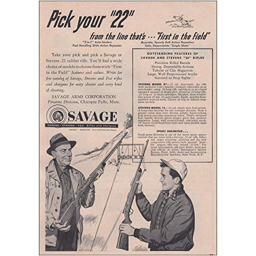 Amazon com: RelicPaper 1951 Savage Rifle: Pick Your 22 from