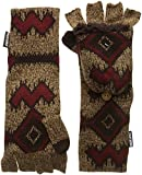 Muk Luks Women's Gaucho Girl Long Flip Mittens-Zig Zag Tribal, Brown, One Size