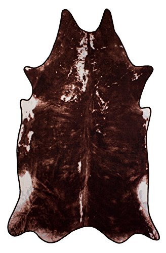 Andiamo 1100257 Teppich Amarillo, Kunstfell, 133 x 220 cm, braun
