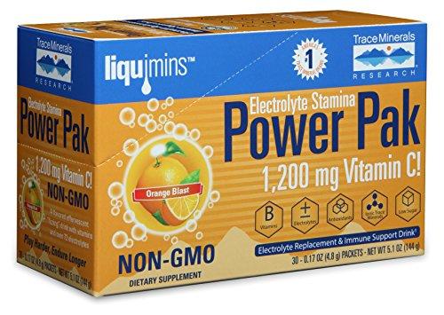 Orange Blast (Trace Minerals Electrolyte Stamina Power Pak Non-GMO, Orange Blast, 30 Count)