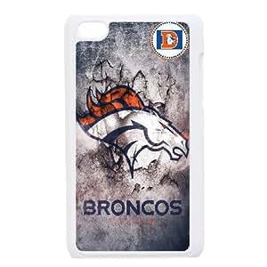Denver Broncos Team Logo iPod Touch 4 Case White persent zhm004_8590725