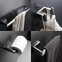 GIMILI 4-Piece Bath Hardware Towel Bar Accessory Set,Brushed Stainless Steel