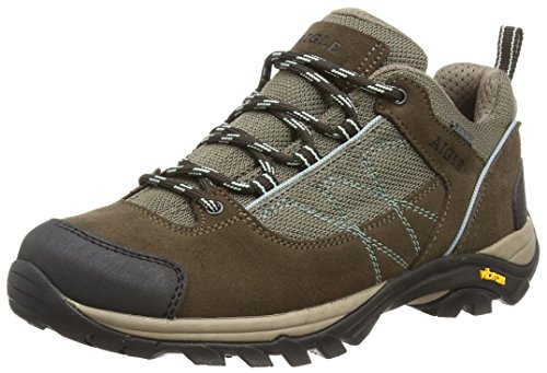 W Women's Darkbrown Mooven Aigle Shoes Gore Agave tex Brown Low Rise Hiking qw76ZEOa7