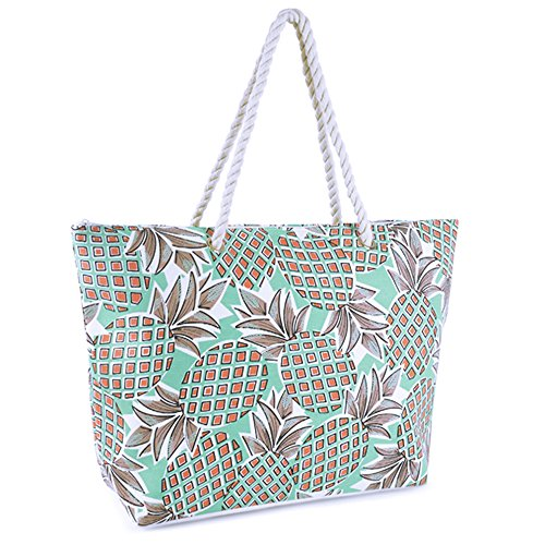 Weave Pool Aqua Tote Ladies Summer Large Beach Printed Blue Bag Design Tropical Shopping pwxxPBtYq