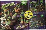"Teenage Mutant Ninja Turtles 3 Ft Floor Puzzle Plus Two 9"" x 6"" Lenticular Puzzles by Cardinal Industries"
