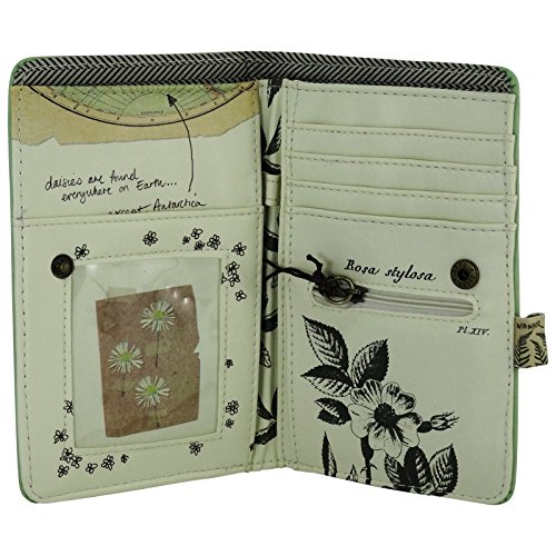 Portafogli da Donna Pochette Clutch Stile Vintage Libro Fiore