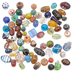 Beadaholique Lampwork Everything But The Kitchen Sink Glass Beads Mix, 225gm