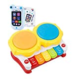 Blancho Bedding Musical Electric Baby Toys Hand Drum Tapping Instrument Percussion Set for Children, Music Piano