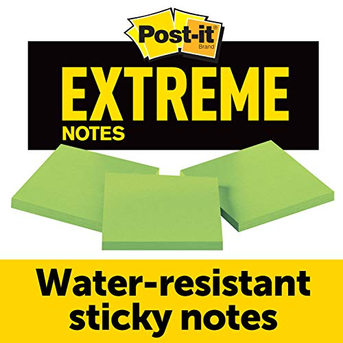 - Post-it Extreme Notes, Green, Great for Tough Conditions, Stop the Re-Work, Great for Instructions, Recyclable Backcard, 3 in x 3 in, 3 Pads/Pack, 45 Sheets/Pad (EXTRM33-3TRYGN)