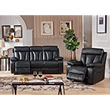 Amax Leather Rhys Top Grain Leather Power Reclining Sofa Set,Sofa and Recliner