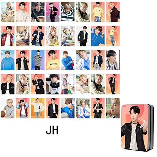 Jacobera Kpop BTS Photocards with Iron Storage Box, Bangtan Boys World Tour Love Yourself Lomo Cards for BTS Army(J-Hope) from Jacobera