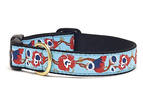 L (Wide) Up Country Big Poppy Dog Collar Large (Wide)