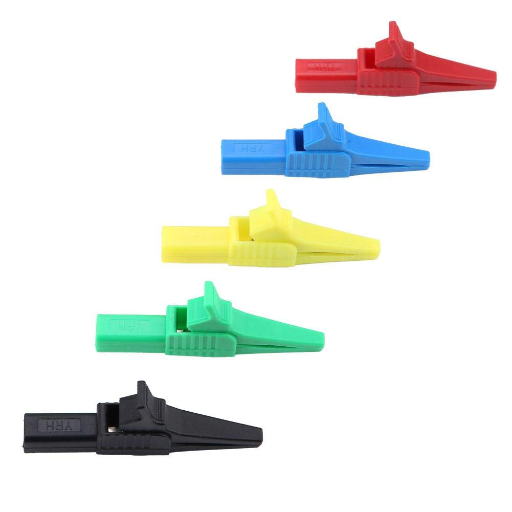 Akozon Crocodile Clip P2003 4mm Jack Copper Safety Test Insulated Crocodile Clip 1500V 32A Test Clip