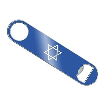 Estrella de David judío Israel antigua religión símbolo barman recubiertas de vinilo soporte de barra de